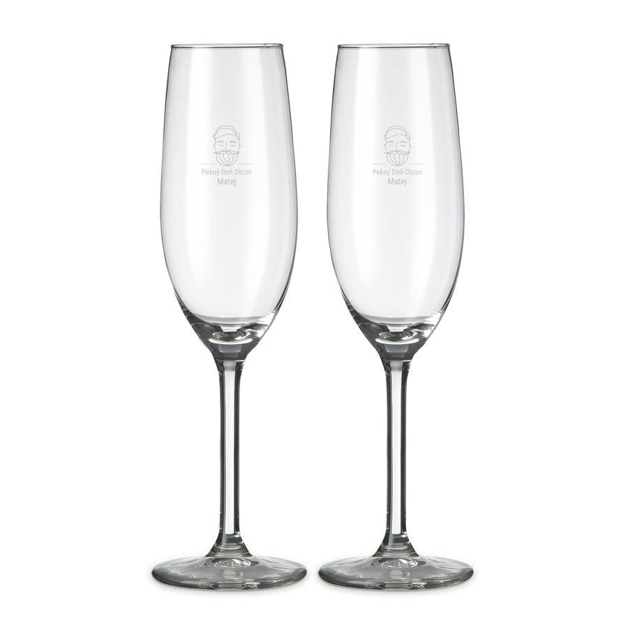 Sklenené šampanské (sada 2 ks)