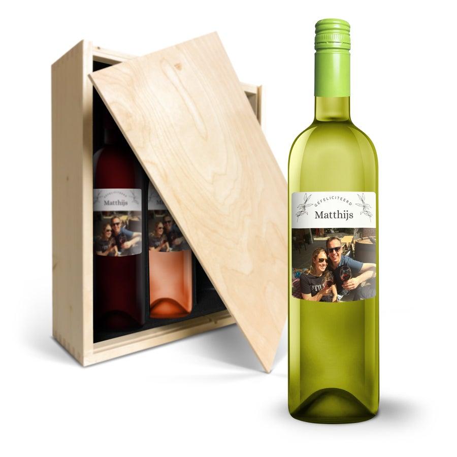 Wijnpakket met etiket - Oude Kaap -Wit, rood en rosé