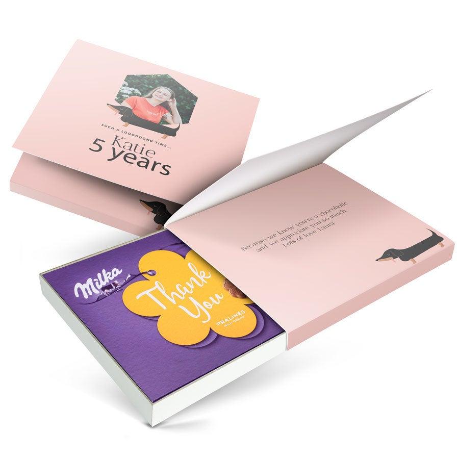 Eu amo Milka! caixa de presente - apenas porque- 110 gramas