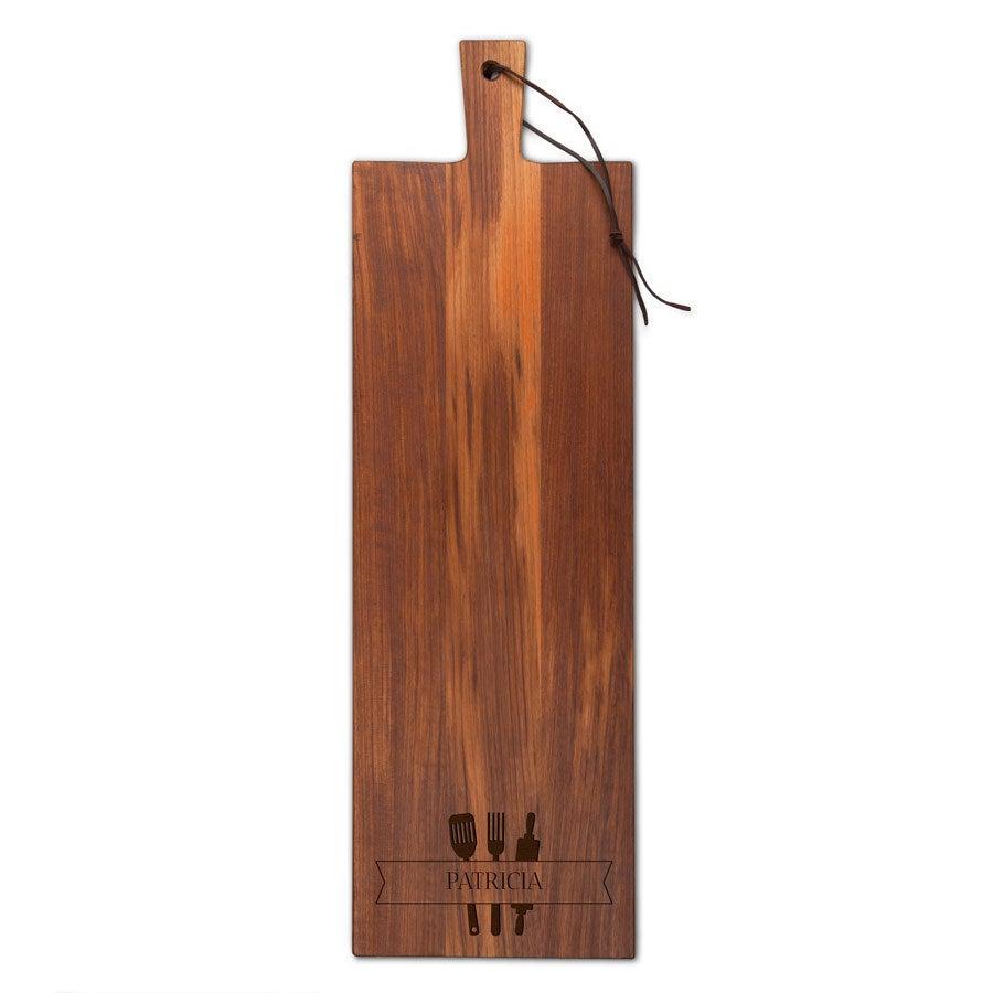 Houten snijplank - Teak - Langwerpig  - staand (M)