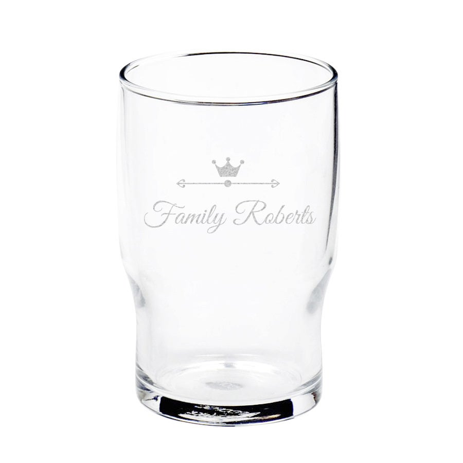 Personalised water glass