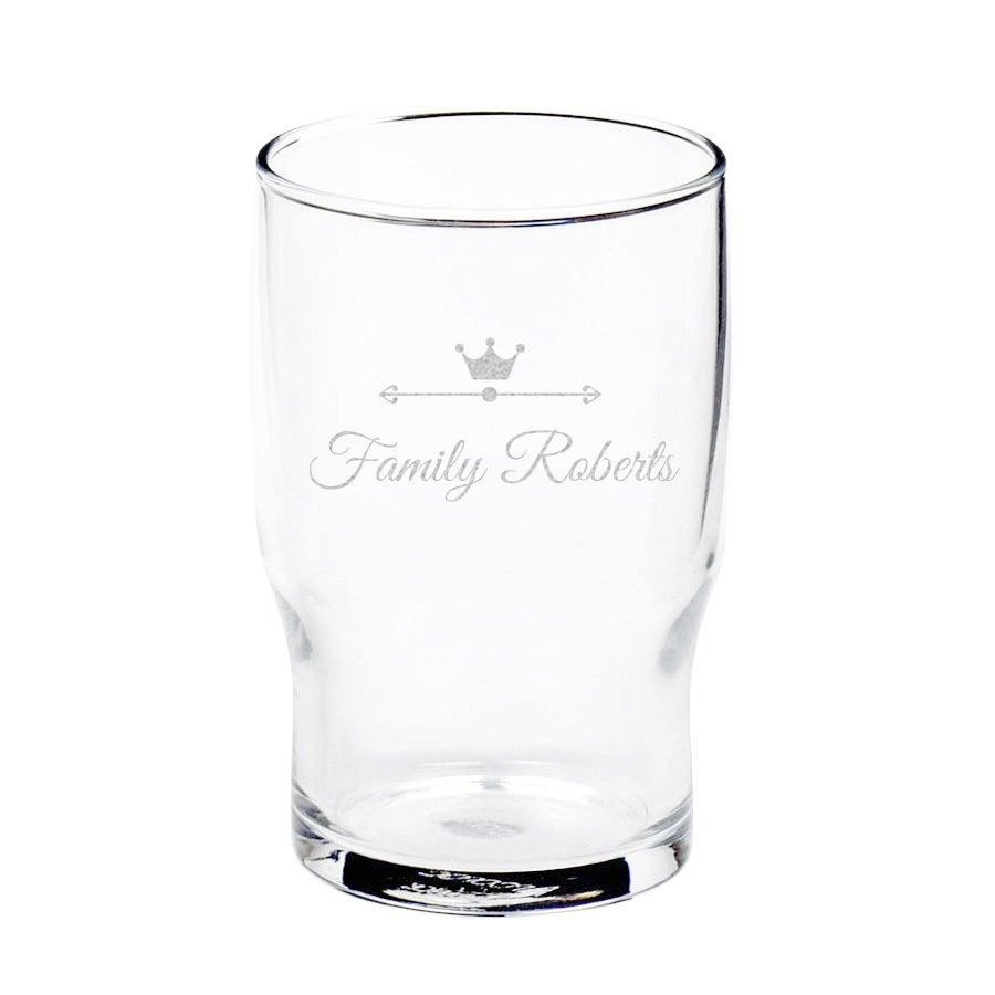 Vaso de agua personalizado
