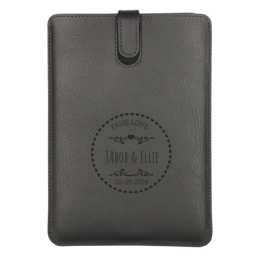 Funda de cuero para iPad Mini  - Negro