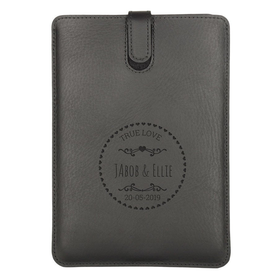 iPad Mini bőr tok - fekete