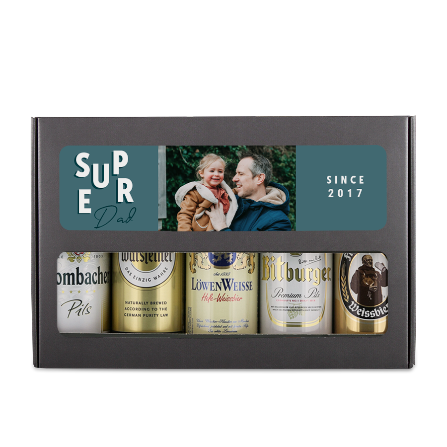 Father's Day beer can set - German