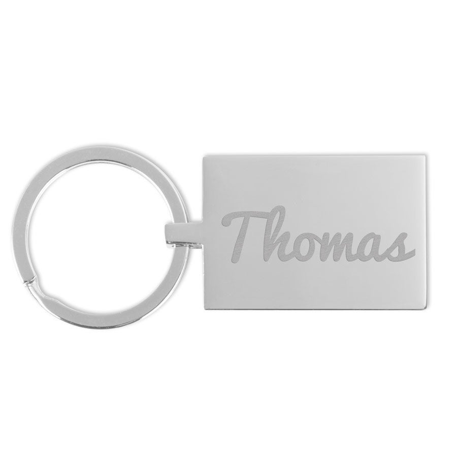 Key ring with name - Rectangle