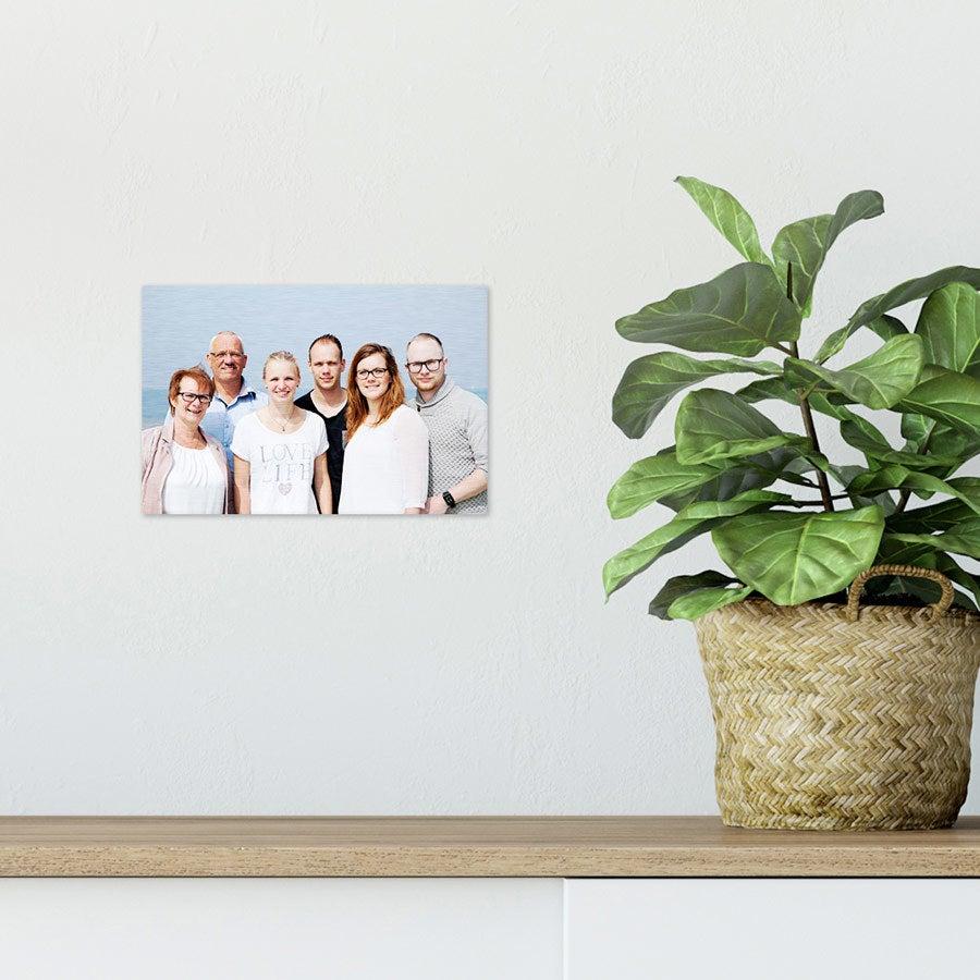 ChromaLuxe Alumiininen valokuvapaneeli - Harjattu (15x10cm)