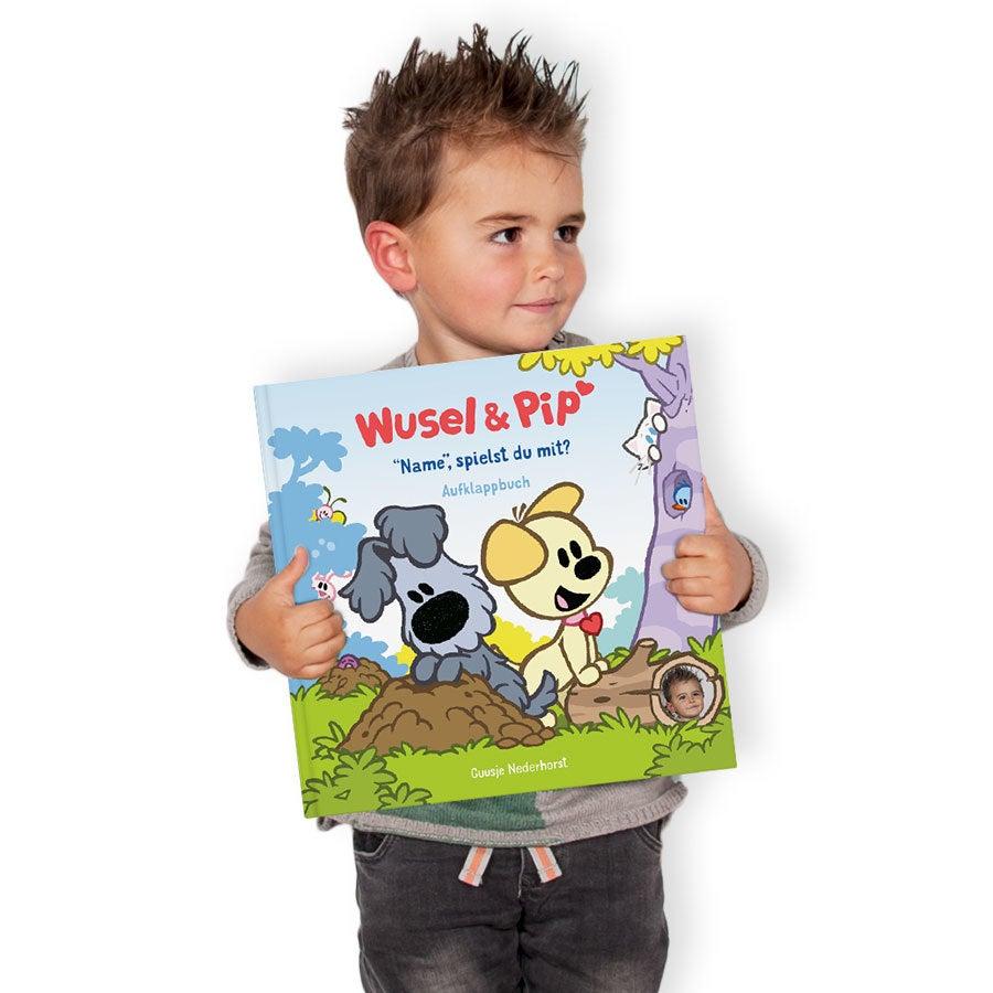 Kinderbuch – Wusel & Pip - Versteckspiel - Hardcover-Aufklappbuch