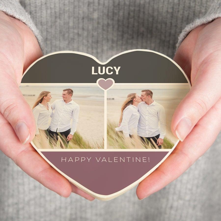 Sjokolade Valentinsdag Hjerte - 200 gr (Hvit)
