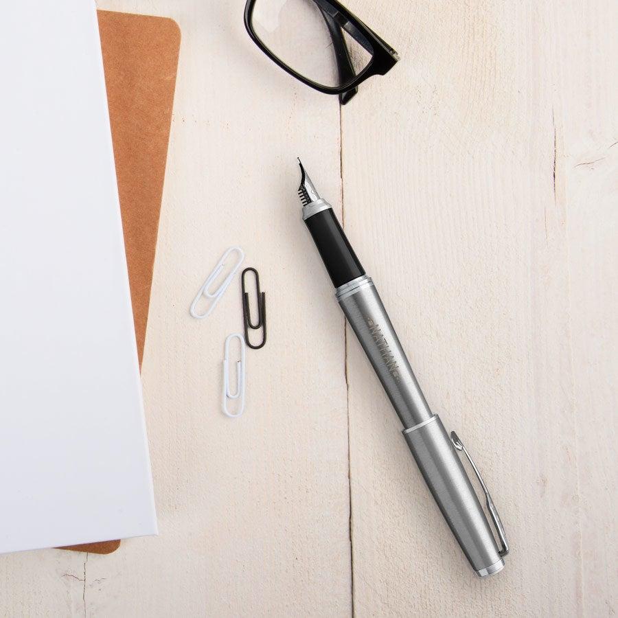 Parker - Urban - caneta-tinteiro - Silver (destro)