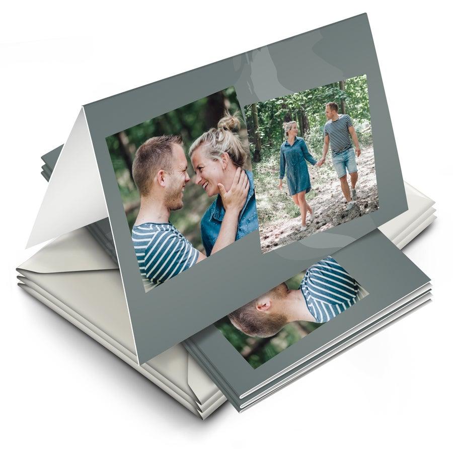 Wenskaarten met foto  - 10 dubbele kaarten