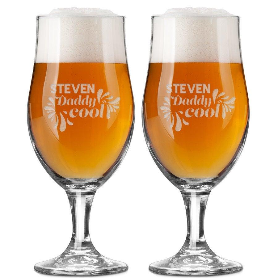 Bierglas mit Gravur - Vatertag (2 Stück)