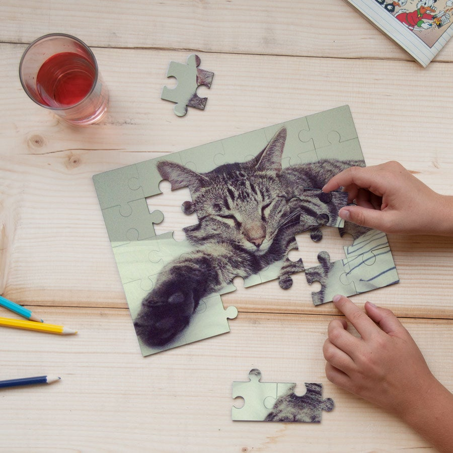 Faire-part puzzle - 30 pièces