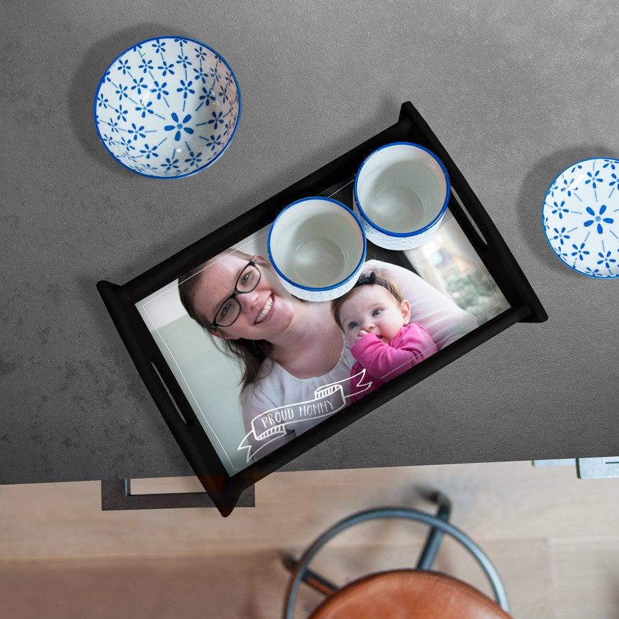 Mother's Day serving tray - Black - Medium