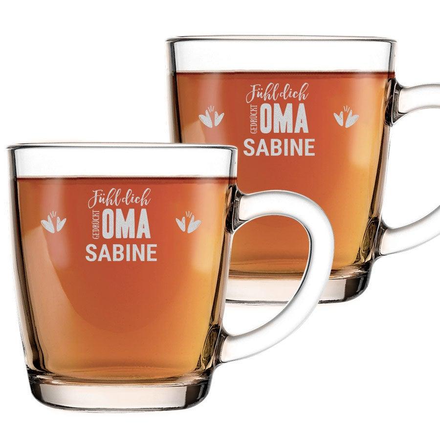 Individuellküchenzubehör - Teeglas Oma 2 Stück - Onlineshop YourSurprise
