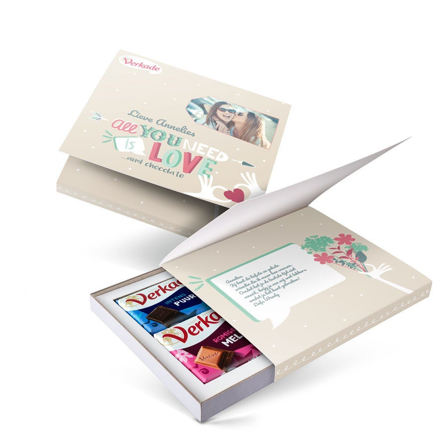 Verkade giftbox bedrukken - All you need is love (2 repen)