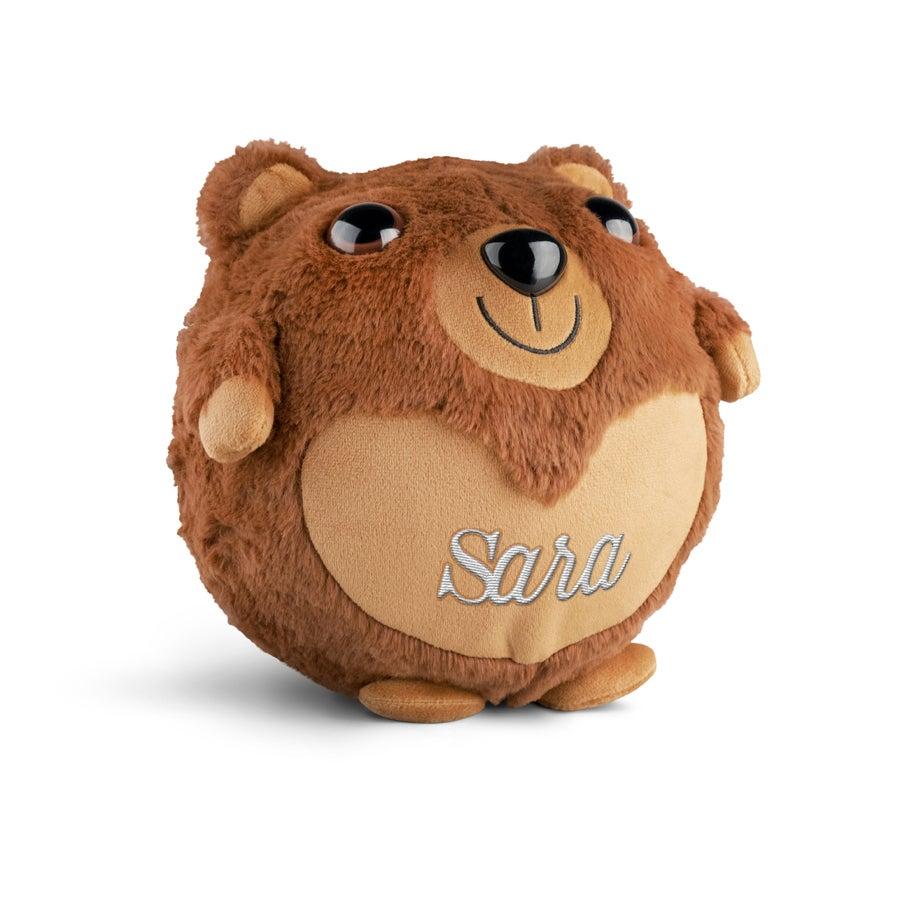 Personlig oppblåsbar bjørn - Brodert med navn