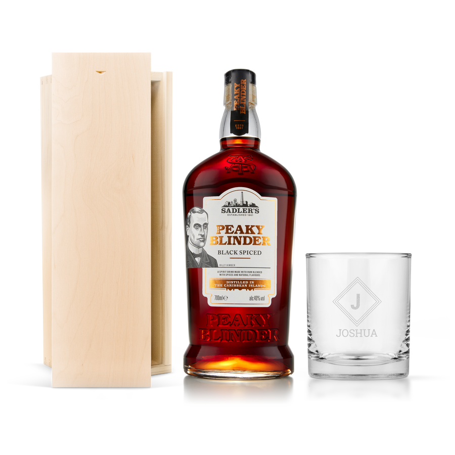 Peaky Blinders rum sada s rytým puzdrom