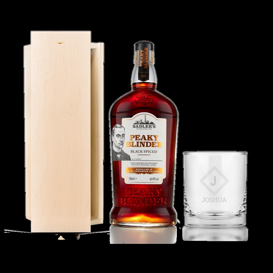 Peaky Blinders rumpakket - met gegraveerd glas