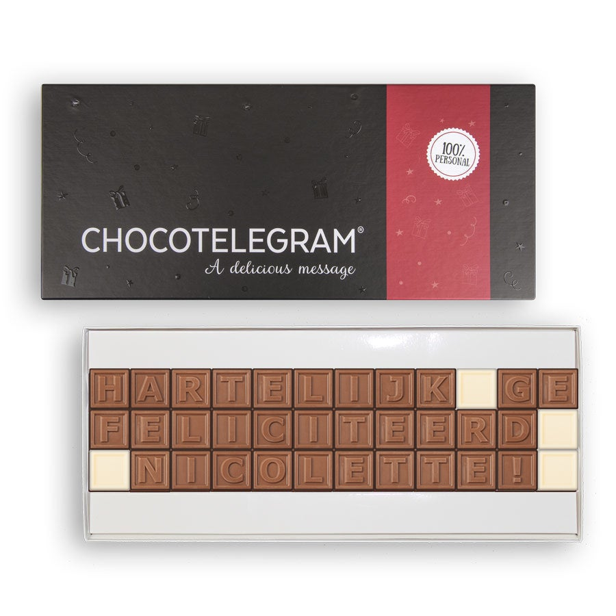 Chocotelegram met persoonlijke boodschap - 36 letters