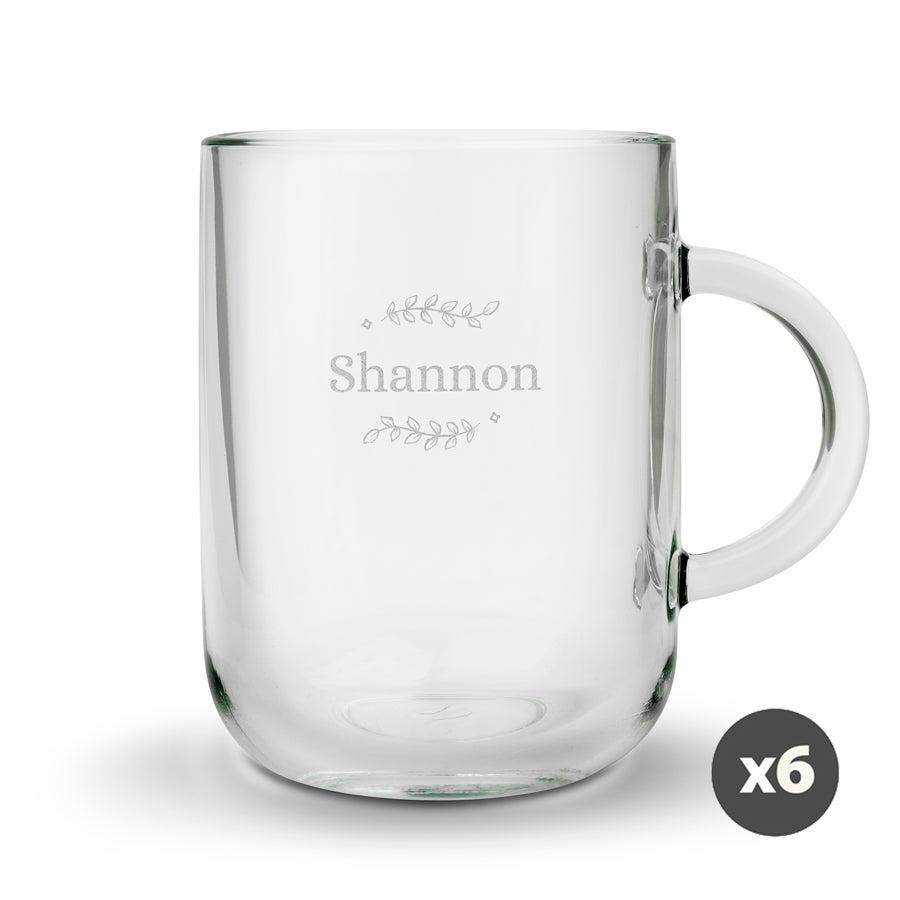 Individuellküchenzubehör - Teeglas mit Gravur rund (6 Stück) - Onlineshop YourSurprise