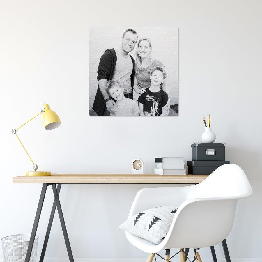 ChromaLuxe Alumiininen valokuvapaneeli - Harjattu (60x60cm)