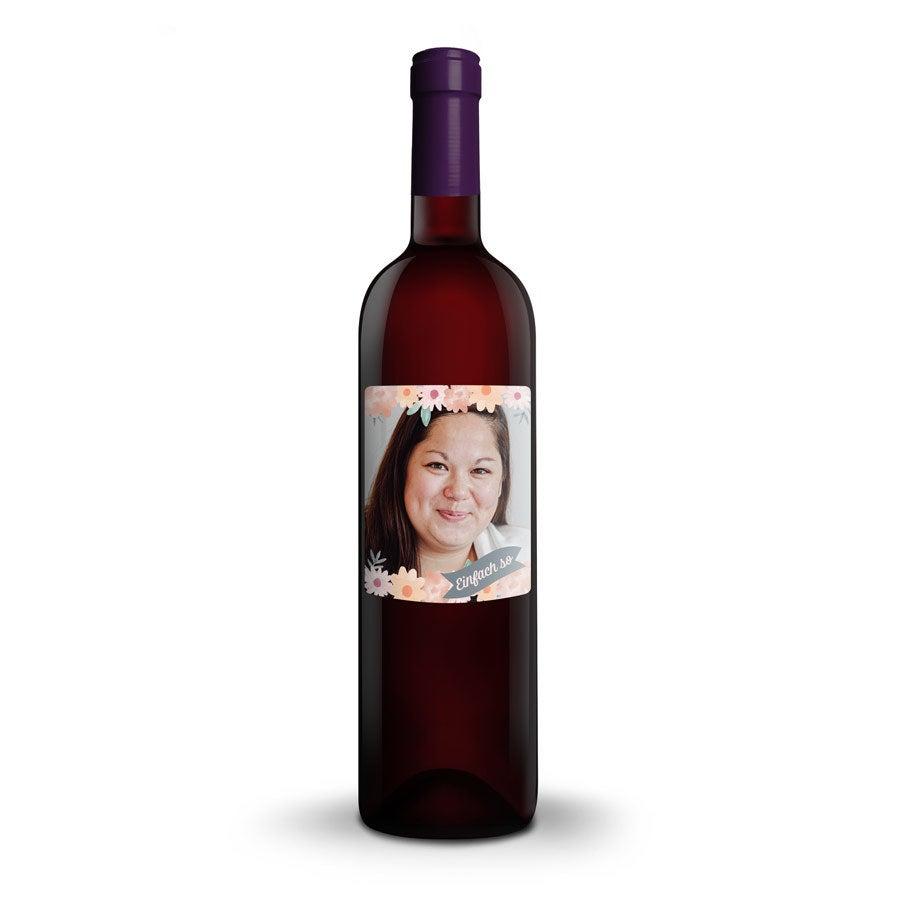Rotwein - Salentein Merlot - persanalisiertes Etikett