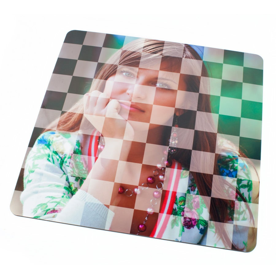 Draughts board with photo
