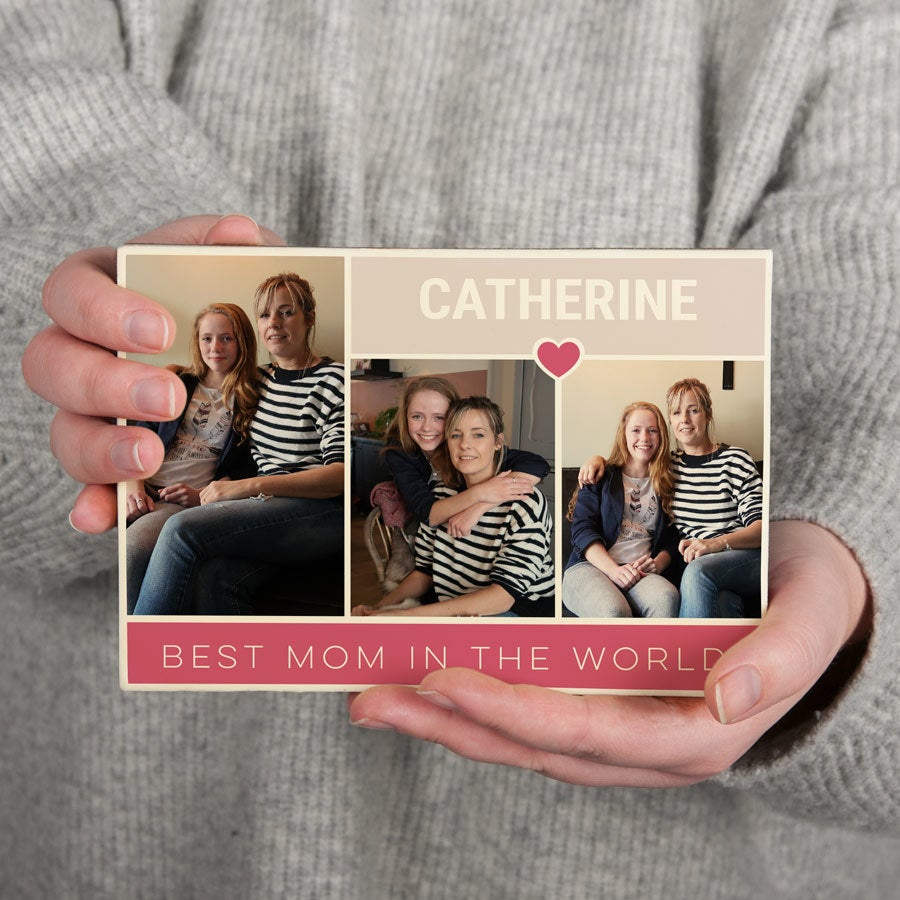 Csokoládé anyák napja kártya - nagy