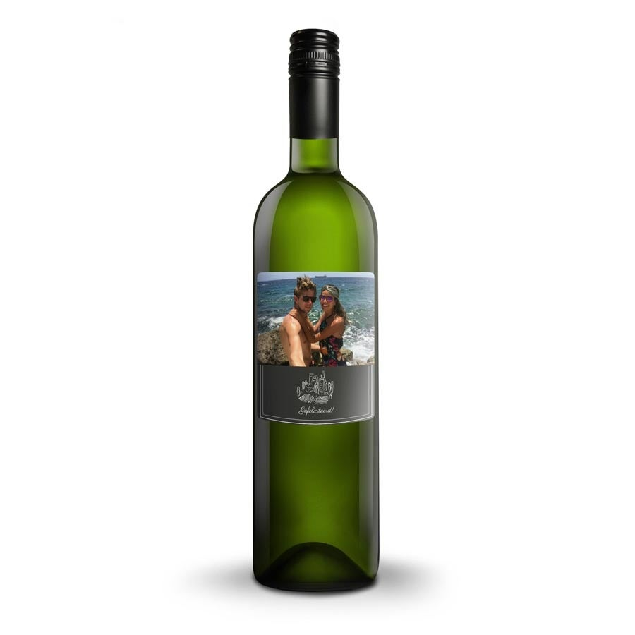 Wijn met bedrukt etiket - Luc Pirlet - Sauvignon Blanc