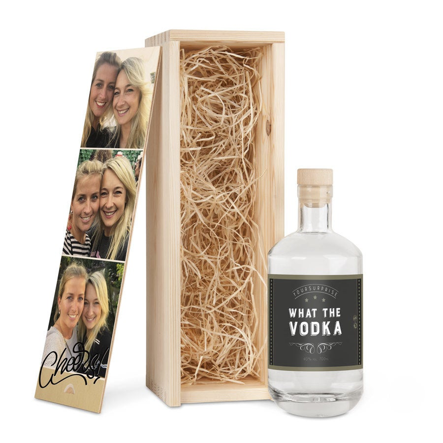 YourSurprise vodka in bedrukte kist