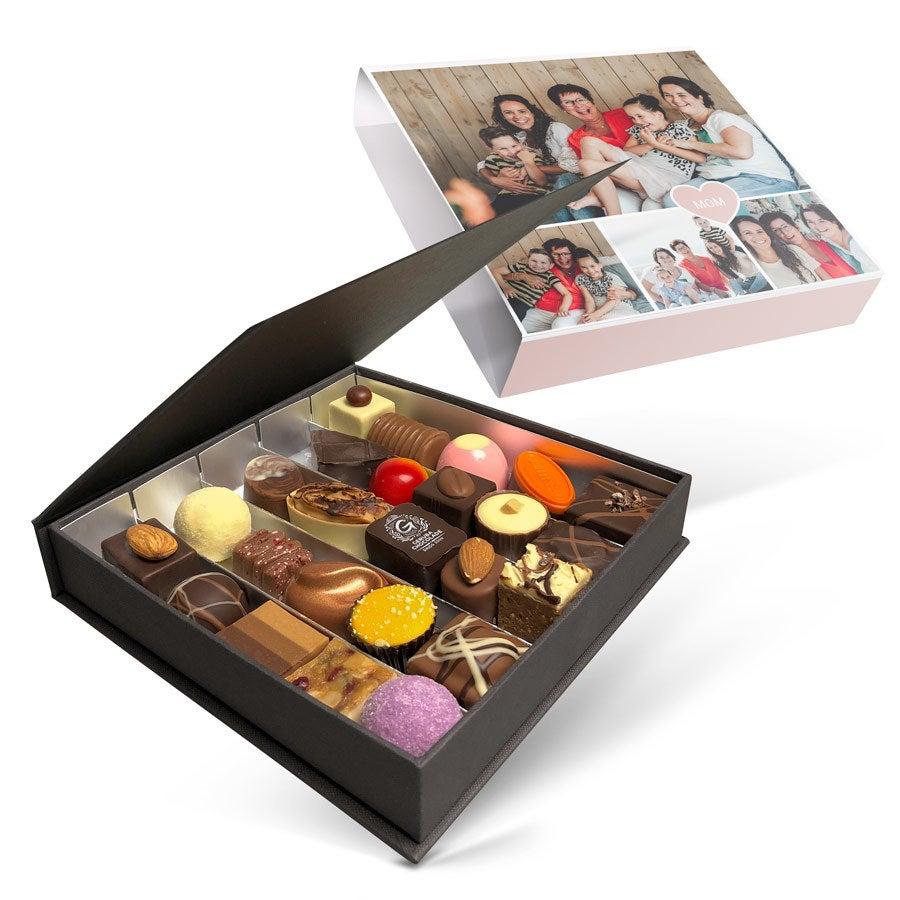Luksus gaveæske med chokolade - Mors dag - 25 stykker