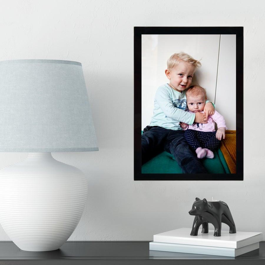 Cadre photo en verre - Noir - 21x30 cm