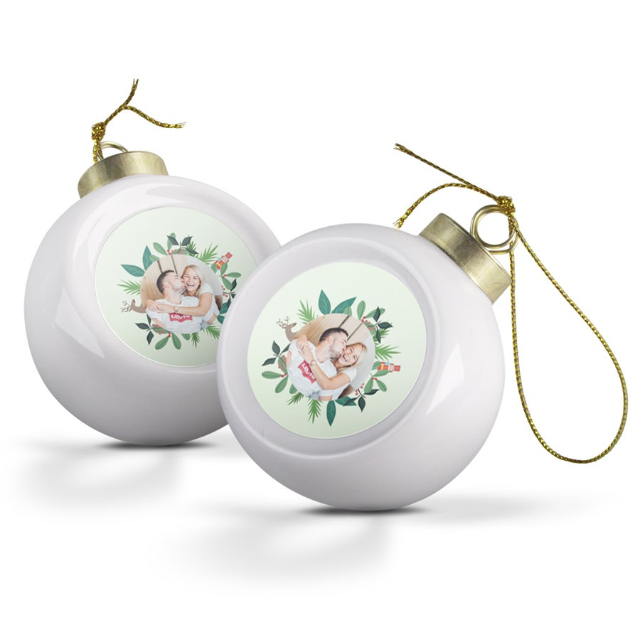 Ceramic Christmas Balls (2 pcs)