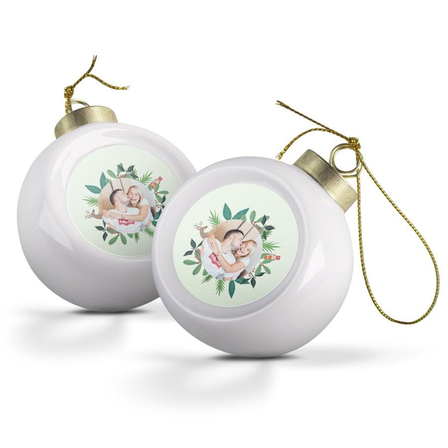 Keraaminen joulupallo (2 kpl)