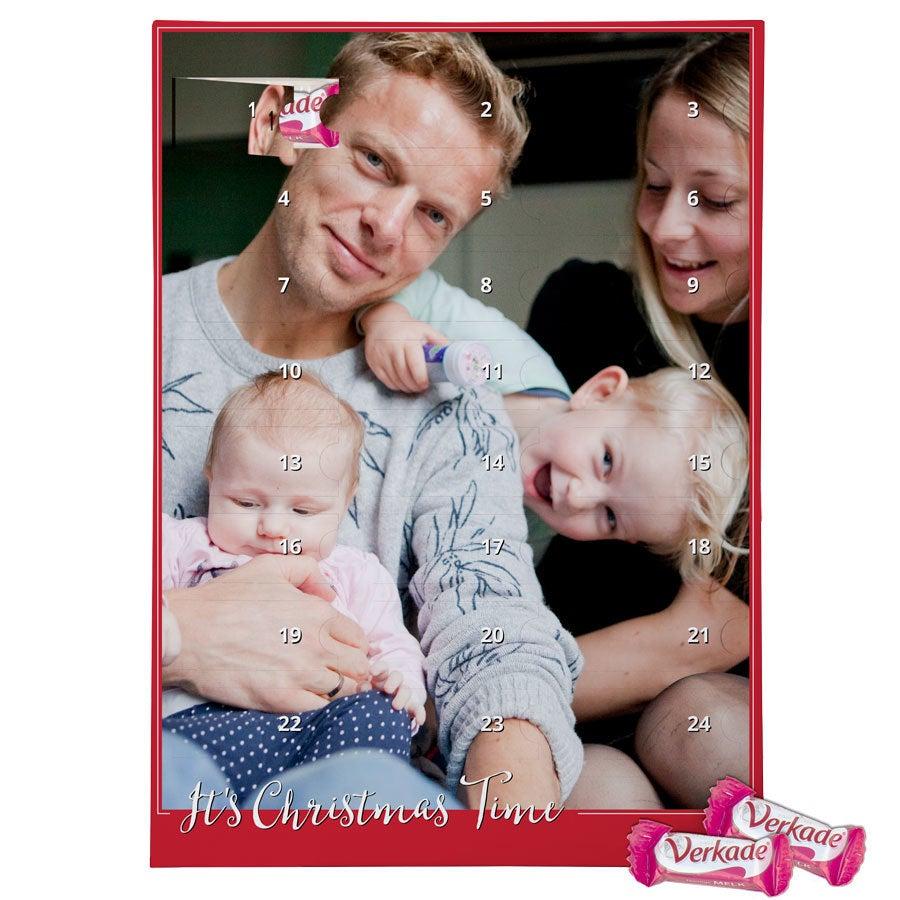 Adventskalender med foto - Verkade - mjölkkchoklad