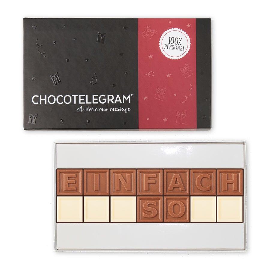 Chocotelegram Präsentkarton 14 Buchstaben