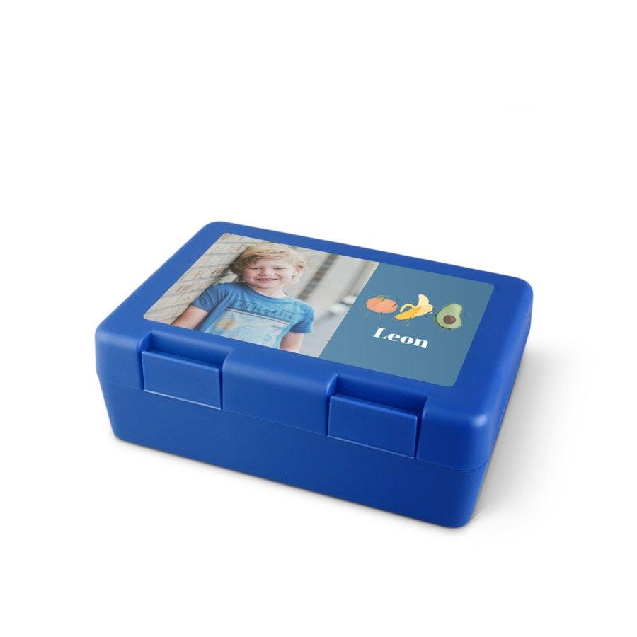 Pojemnik na kanapki - niebieski
