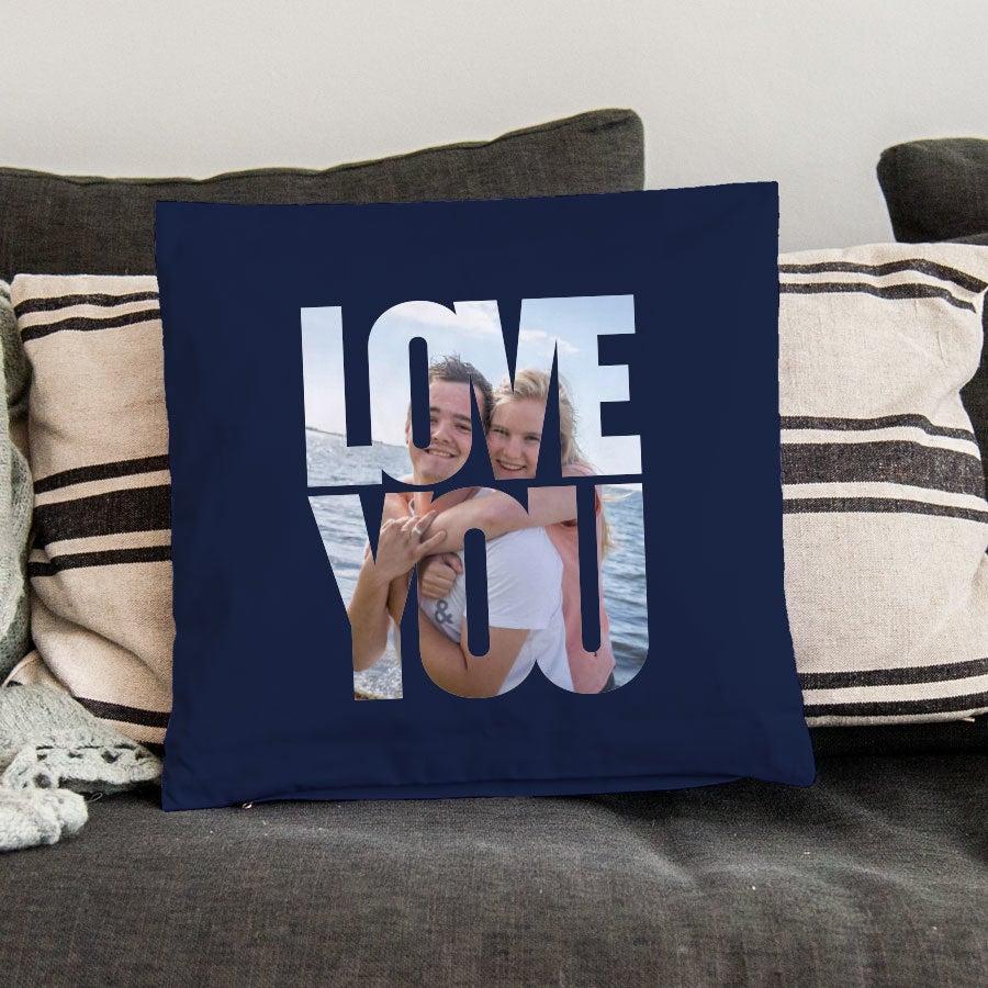 Love Throw tyyny - keskikoko ei täytettävää - laivastonsininen