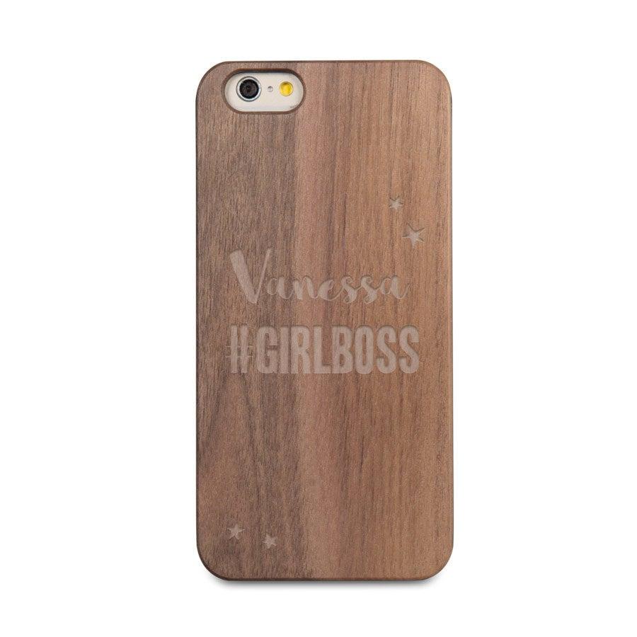 Coque en bois iPhone 6 - Gravée