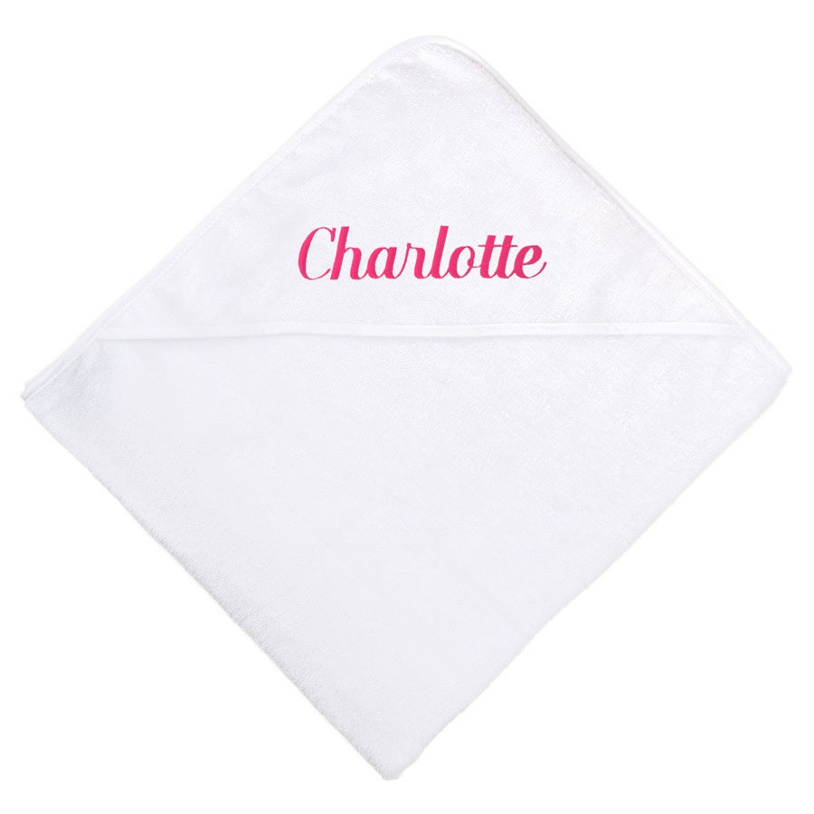 Hooded baby towel - White
