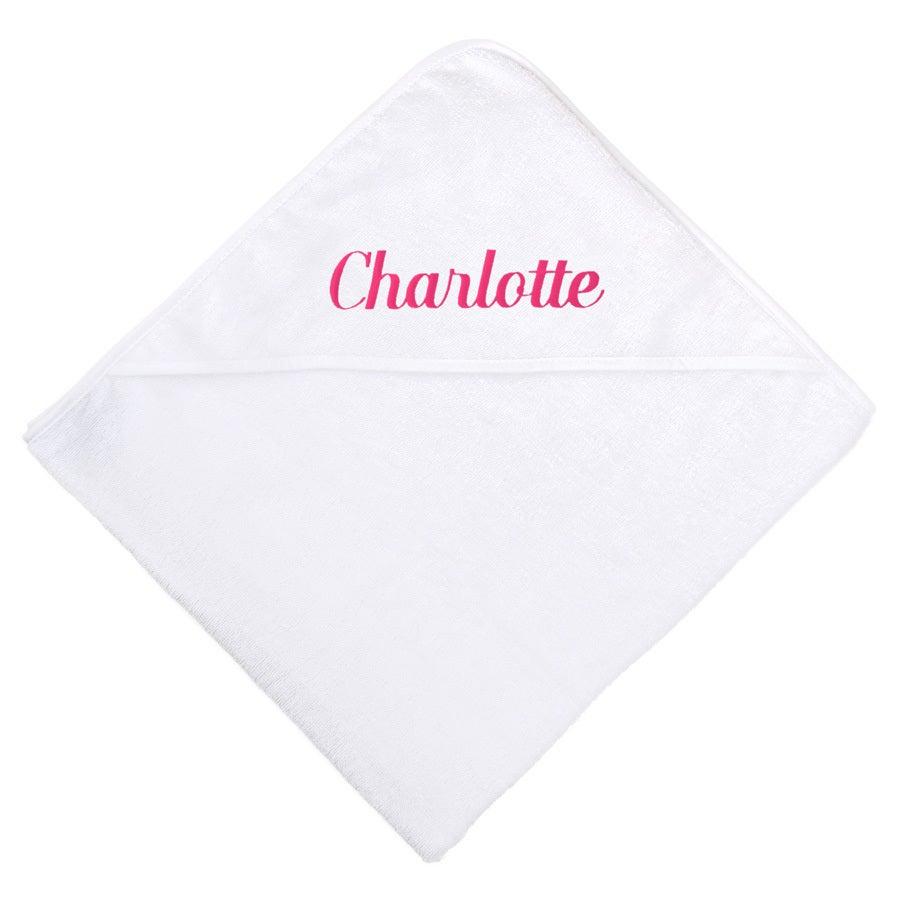 Ręcznik dla niemowląt z kapturem - biały