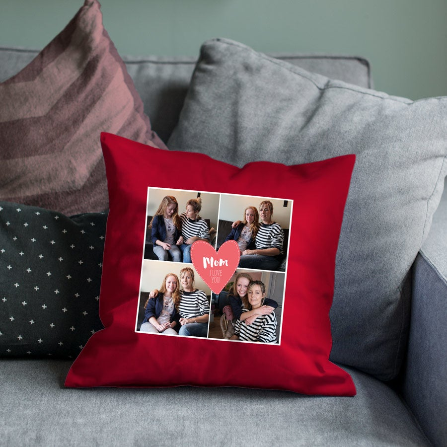 Mother's Day cushion - Red