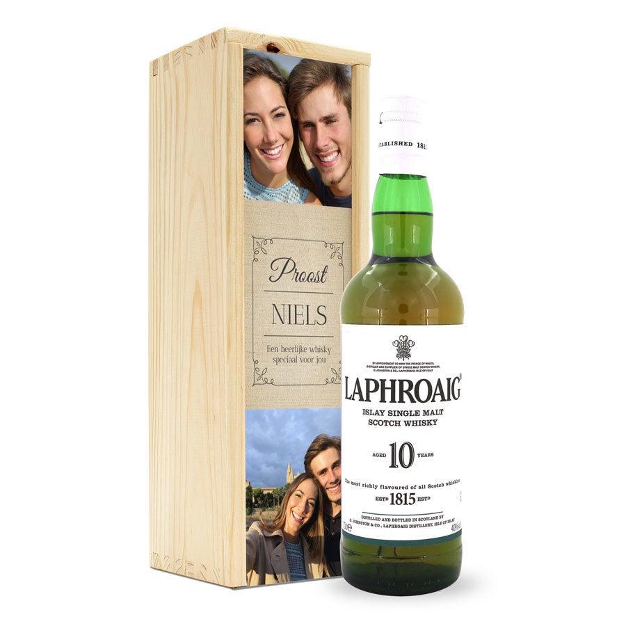 Whisky in bedrukte kist - Laphroaig 10 Years