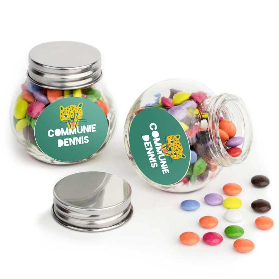 Chocosnoepjes in glazen potje - 60 stuks