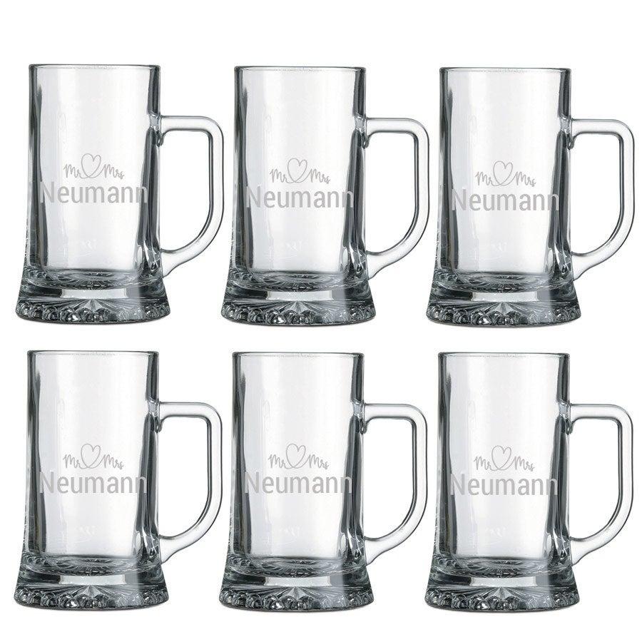 Individuellküchenzubehör - Bierkrug mit Gravur (6 Stück) - Onlineshop YourSurprise