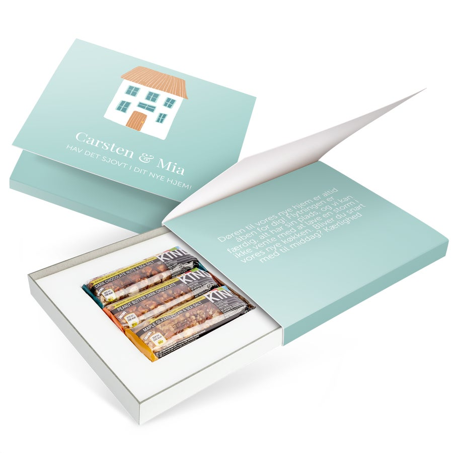 Personlig gaveæske med BE-KIND-nøddebarer – Generel – 2 barer