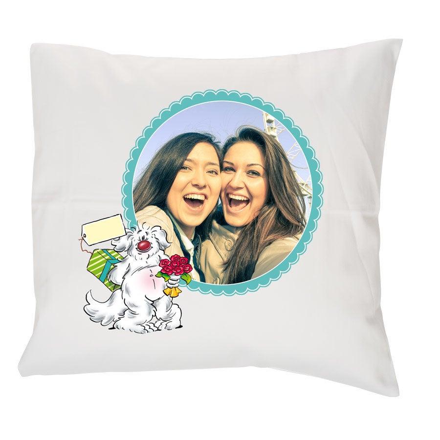 Doodles cushion case - 40 x 40 cm - White