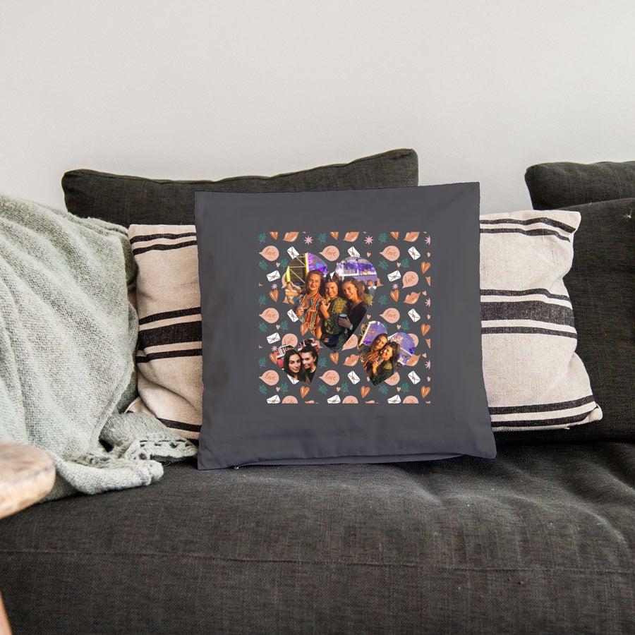 Love Throw Pillow - Medium ei täytettävää - tummanharmaa