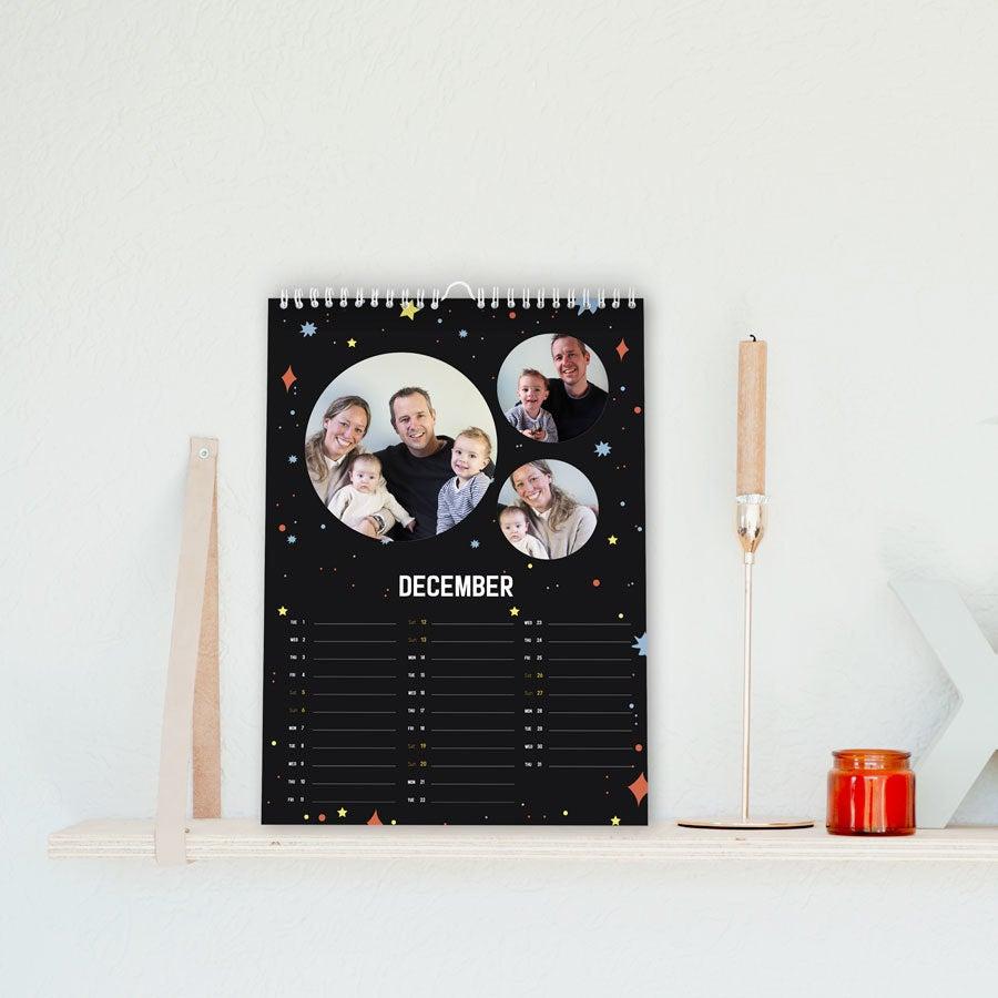 Seinäkalenteri 2020 - A4 - yksipuolinen - pysty